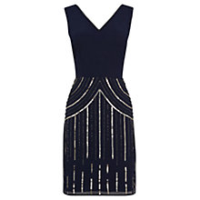 Buy Warehouse Sequin And Beaded Dress, Midnight Online at johnlewis.com