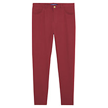 Buy Violeta by Mango Button Leggings, Dark Red Online at johnlewis.com