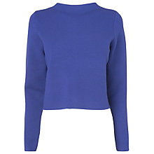 Buy L.K. Bennett Cozo Knitted Top, Blue Online at johnlewis.com