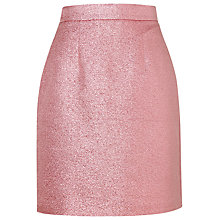 Buy L.K. Bennett Thulani Lurex Skirt, Pink Online at johnlewis.com