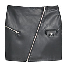 Buy Mango Decorative Zip Skirt, Black Online at johnlewis.com