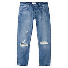 Buy Mango Cropped Japan Jeans, Open Blue Online at johnlewis.com