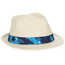 Buy Gant Floral Band Straw Trilby Hat, Natural Online at johnlewis.com