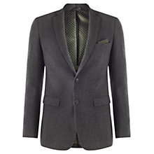 Buy Jigsaw Herringbone Suit Jacket, Charcoal Online at johnlewis.com