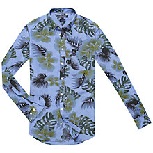 Buy Tommy Hilfiger Flower Leaf Print Shirt, Indigo/Thyme Online at johnlewis.com