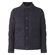 Buy Jigsaw Waxed Lambswool Quilted Jacket, Navy Online at johnlewis.com
