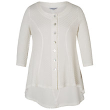 Buy Chesca Cloque Jacquard Jersey Top, Cream Online at johnlewis.com