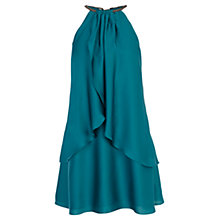 Buy Coast Satin Trim Dress, Emerald Online at johnlewis.com