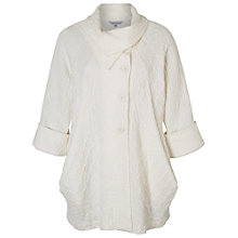 Buy Chesca Lattice Jacquard Coat, Cream Online at johnlewis.com