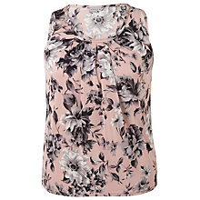 Buy Chesca Rose Print Tuck Top, Powder Pink Online at johnlewis.com