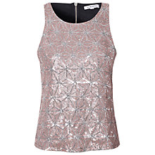 Buy True Decadence Sequin Shell Top, Light Gold Online at johnlewis.com