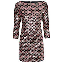 Buy True Decadence Sequin Bodycon Dress, Bronze Online at johnlewis.com