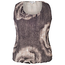 Buy Chesca Rose Print Crush Pleat Camisole, Grey Online at johnlewis.com