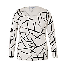 Buy Chesca Brush Strokes Jumper, Ivory/Black Online at johnlewis.com