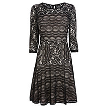 Buy Coast Aisha Lace Sleeved Dress, Monochrome Online at johnlewis.com