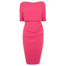 Buy Coast Beth Crepe Dress, Raspberry Online at johnlewis.com