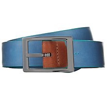Buy Ted Baker Flipova Reversible Leather Belt, Tan/Navy Online at johnlewis.com