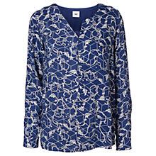 Buy Mamalicious Ellen Long Sleeve Nursing Top, Blue/White Online at johnlewis.com