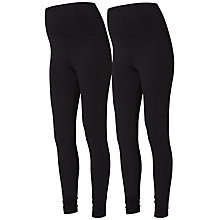 Buy Mamalicious Sofia Maternity Leggings, Pack of 2, Black Online at johnlewis.com