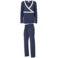 Buy Mamalicious Thilde Tess Lace Maternity Nursing Pyjama Set, Black Iris Online at johnlewis.com