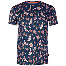 Buy Ted Baker Bishy Floral Print T-Shirt, Teal Online at johnlewis.com
