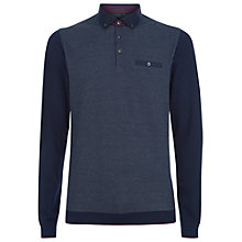 Buy Ted Baker Hamnet Birdseye Front Polo Shirt Online at johnlewis.com