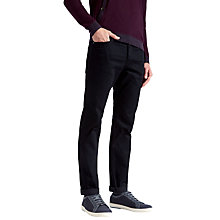 Buy Ted Baker Surrent Straight Fit Jeans, Black Online at johnlewis.com