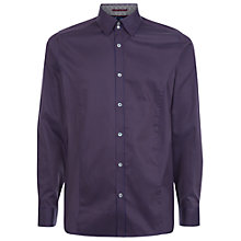 Buy Ted Baker Huckfin Tonal Stretch Cotton Shirt Online at johnlewis.com