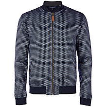 Buy Ted Baker Kolumbo Circle Print Reversible Bomber Jacket, Navy Online at johnlewis.com