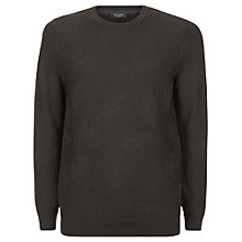 Buy Ted Baker Feelix Jacquard Merino Wool Jumper, Dark Brown Online at johnlewis.com