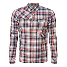 Buy Pretty Green Didsbury Plaid Shirt, Red Online at johnlewis.com