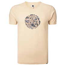 Buy Pretty Green Crawley Leaf Logo T-Shirt, Stone Online at johnlewis.com