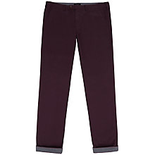 Buy Ted Baker Silverp Chinos, Dark Red Online at johnlewis.com