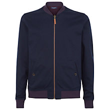 Buy Ted Baker Revercy Reversible Cotton Bomber Jacket, Navy Online at johnlewis.com