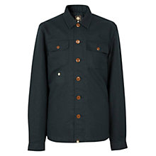 Buy Pretty Green Stamford Shirt, Navy Online at johnlewis.com