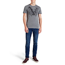 Buy Ted Baker Jabiru Eagle Graphic T-Shirt, Grey Marl Online at johnlewis.com