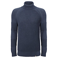 Buy Pretty Green Flaxwood Roll Neck Jumper, Navy Online at johnlewis.com
