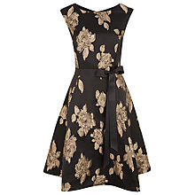 Buy Kaliko Rose Jacquard Prom Dress, Black Online at johnlewis.com
