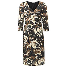 Buy Kaliko Floral Wrap Dress, Multi/Brown Online at johnlewis.com