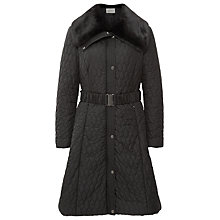 Buy Kaliko Full Skirted Coat, Black Online at johnlewis.com