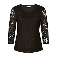Buy Kaliko Rose Lace Top, Black Online at johnlewis.com