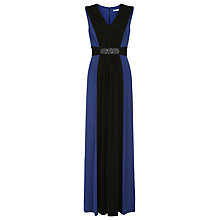 Buy Kaliko Embellished Waistband Maxi Dress, Bright Blue Online at johnlewis.com