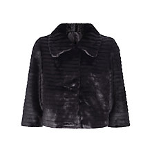 Buy Kaliko Short Faux Fur Jacket, Black Online at johnlewis.com