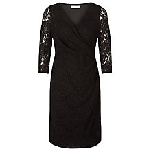 Buy Kaliko Rose Lace Wrap Dress, Black Online at johnlewis.com