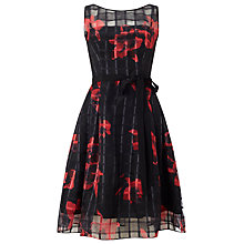 Buy Phase Eight Mimi Fit and Flare Dress, Black/Red Online at johnlewis.com