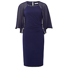 Buy Kaliko Cape Dress, Navy Online at johnlewis.com