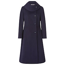 Buy Jacques Vert Wool Blend Collar Coat, Navy Online at johnlewis.com