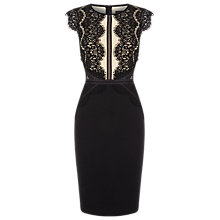 Buy Phase Eight Ivana Midi Dress, Black Online at johnlewis.com