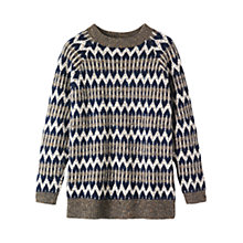 Buy Toast Nordic Fairisle Donegal Jumper, Neutral/Midnight Multi Online at johnlewis.com