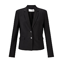 Buy BOSS Jaru Wool-Stretch Blazer, Black Online at johnlewis.com